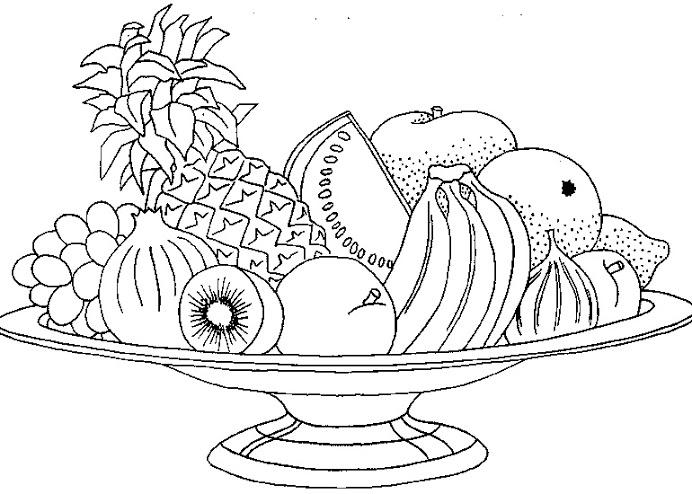 Dibujos De Frutas Para Pintar Colorear Imagenes