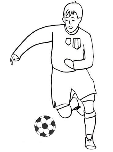 Imágenes para pintar de futbol para el Día del Futbolista ...