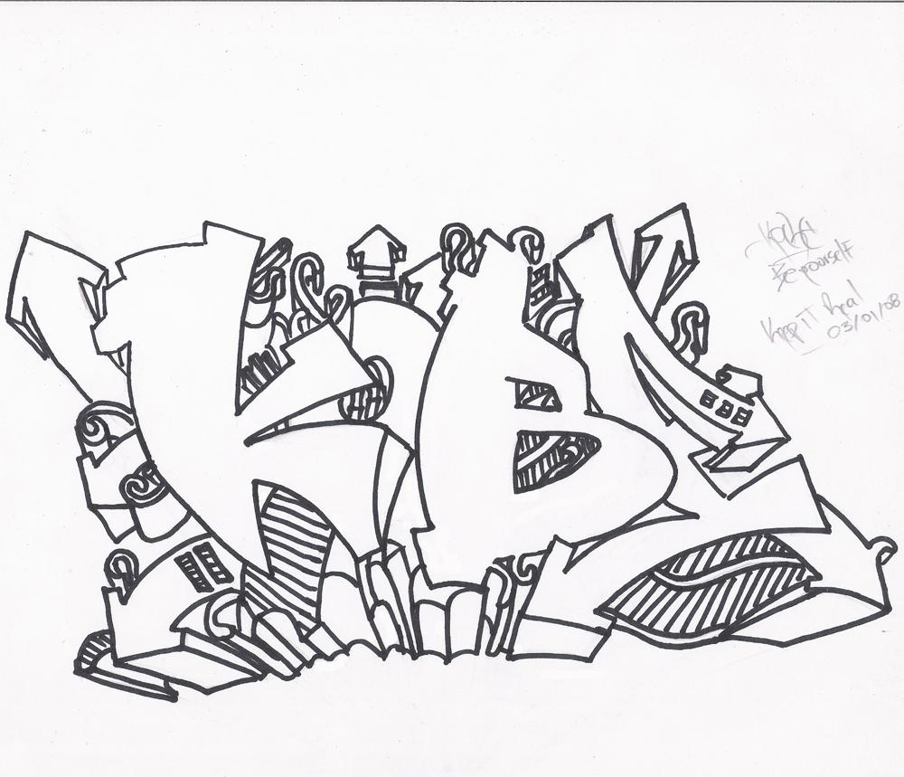 Dibujos De Graffiti Para Imprimir Y Colorear Colorear Imágenes