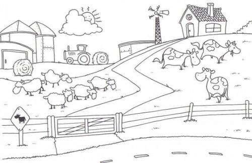 Dibujos Infantiles De Granjas Con Animales Para Pintar Colorear