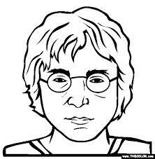 Dibujos para pintar de John Lennon | Colorear imágenes