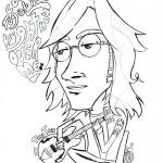 Dibujos para pintar de John Lennon