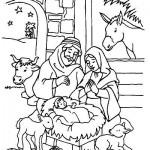 El nacimiento de Jesús en el Portal de Belén – Para pintar