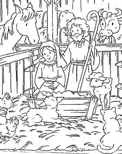 El nacimiento de Jesús en el Portal de Belén – Para pintar ...