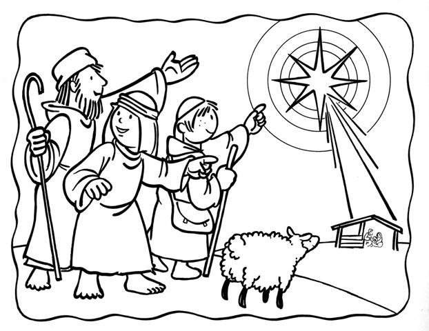 Dibujos de pastores de belen para colorear