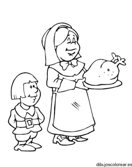 Ya Kleurplaat Dibujos De Escenas Familiares Con El Pavo Navide 241 O
