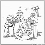 Los Reyes Magos para pintar