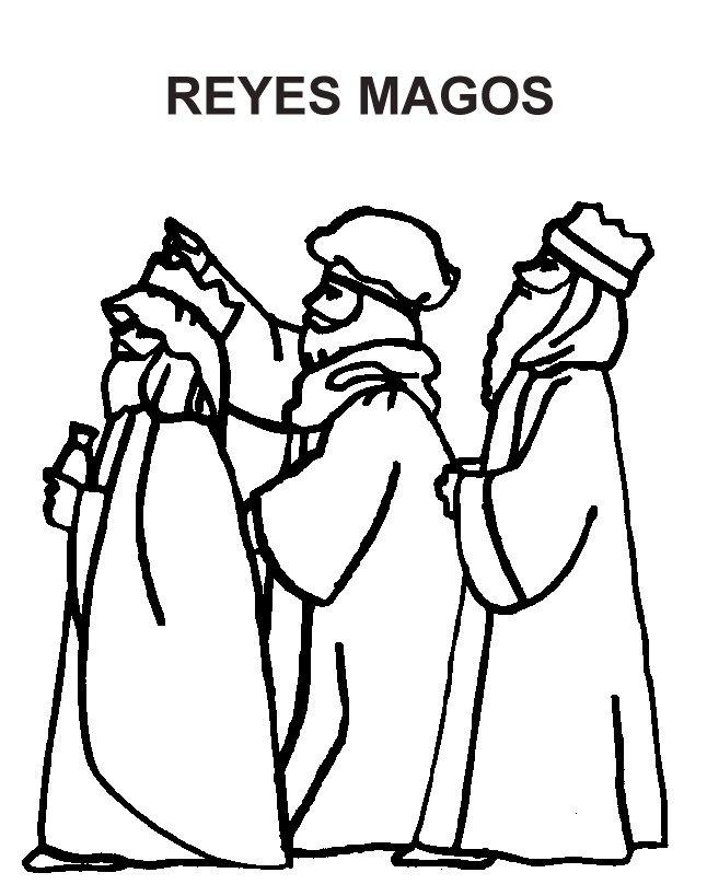 Imagenes Tres Reyes Magos Gratis.Los Tres Reyes Magos Para Colorear Colorear Imagenes