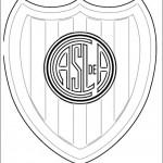 Escudos para pintar de Racing y de San Lorenzo