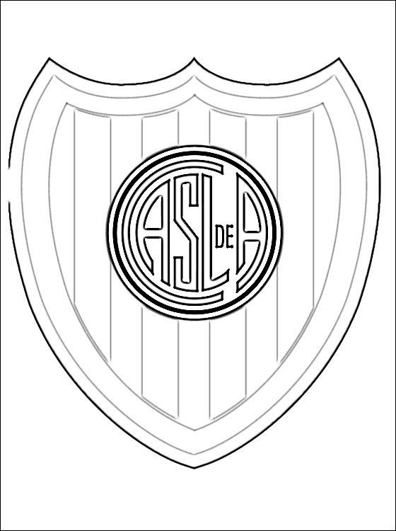 escudos para pintar de racing y de san lorenzo colorear