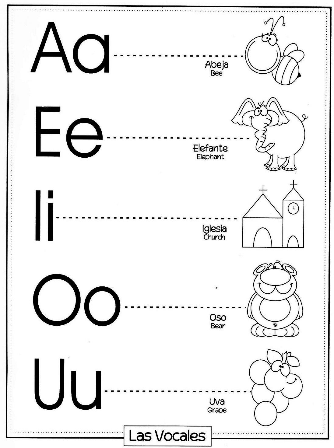 Diferentes letras vocales y abecedarios para imprimir y for L practicas