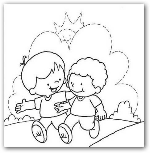 Dibujos de amigos para colorear | Colorear imágenes