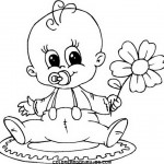 Pintando divertidos dibujos de bebés