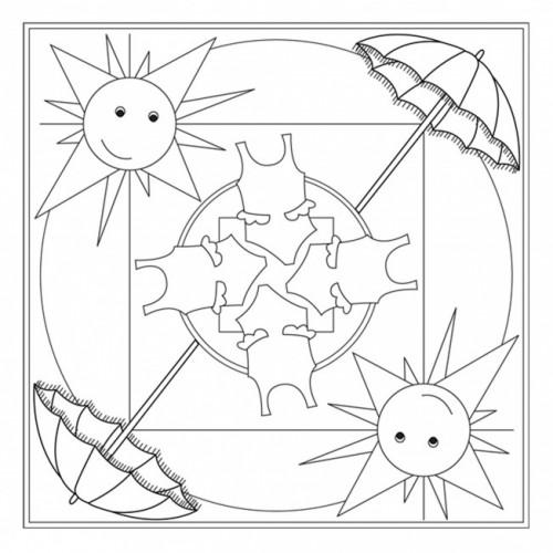 Dibujos De Mandalas Con Motivos De Verano Para Pintar Colorear