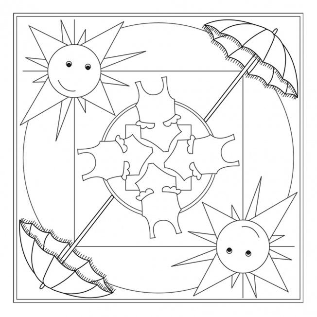 Dibujos de mandalas con motivos de verano para pintar | Colorear ...