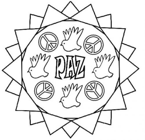 Mandalas Del Día De La Paz Y La No Violencia Para Imprimir Y