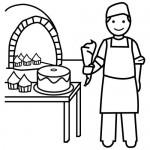 Dibujos para colorear del Día Nacional del Pastelero