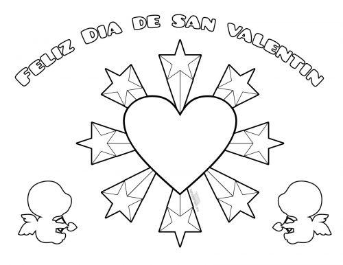 Dibujos De Felíz San Valentín Para Imprimir Y Pintar