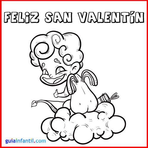 Dibujos de Felíz San Valentín para imprimir y pintar   Colorear imágenes