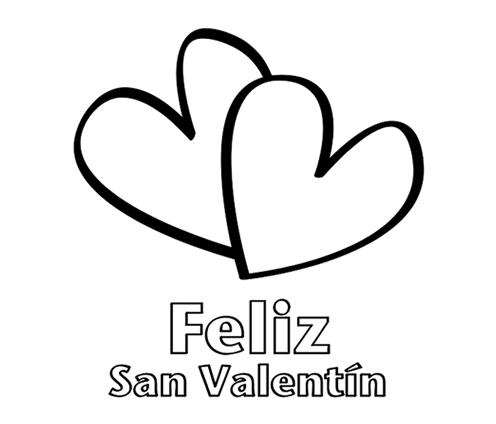 Dibujos de Felíz San Valentín para imprimir y pintar | Colorear imágenes