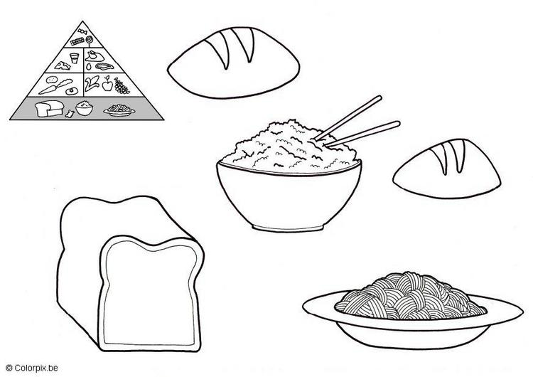 Dibujos de alimentos saludables para colorear colorear im genes - Informacion sobre la fibra vegetal ...