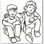 Coloreando amigos en el Día del Amor y la Amistad