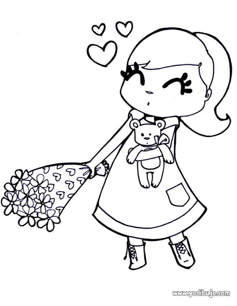 Dibujos para colorear y regalar el Día del Amor y la Amistad ...