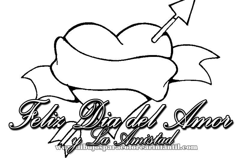 Dibujos Infantiles De Felíz Día Del Amor Y La Amistad Para