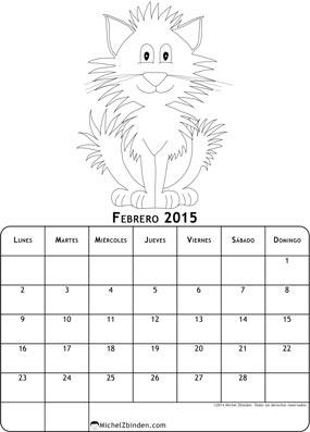 calendario-febrero-2015-dibujo-para-colorear-gato-l