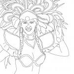 Dibujos de trajes de carnaval para imprimir y colorear