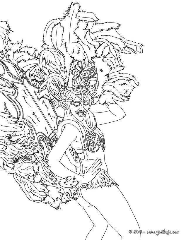 brazil carnival coloring pages - photo#15