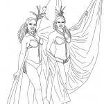 Dibujos del Carnaval de Brasil para pintar
