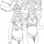 Dibujos de bailarinas del Carnaval de Río para pintar