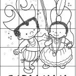 Dibujos infantiles de Carnaval para colorear