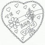 Corazones del Día de San Valentín para imprimir y pintar