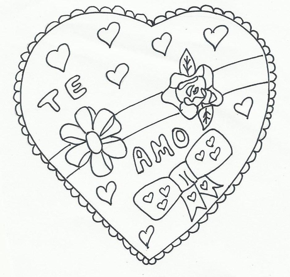 Corazones del Día de San Valentín para imprimir y pintar | Colorear ...