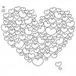 Pintando corazones de amor para el Día de San Valentín