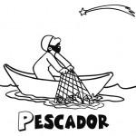Dibujos de pescadores para imprimir y pintar