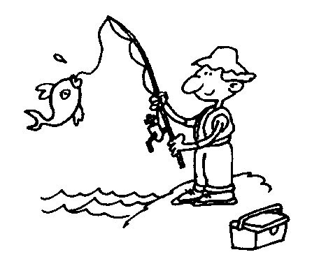 Dibujos de pescadores para imprimir y pintar | Colorear imágenes