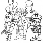 Trajes infantiles de carnaval para pintar