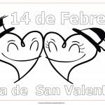 Dibujos del 14 de febrero – Día de San Valentín para pintar