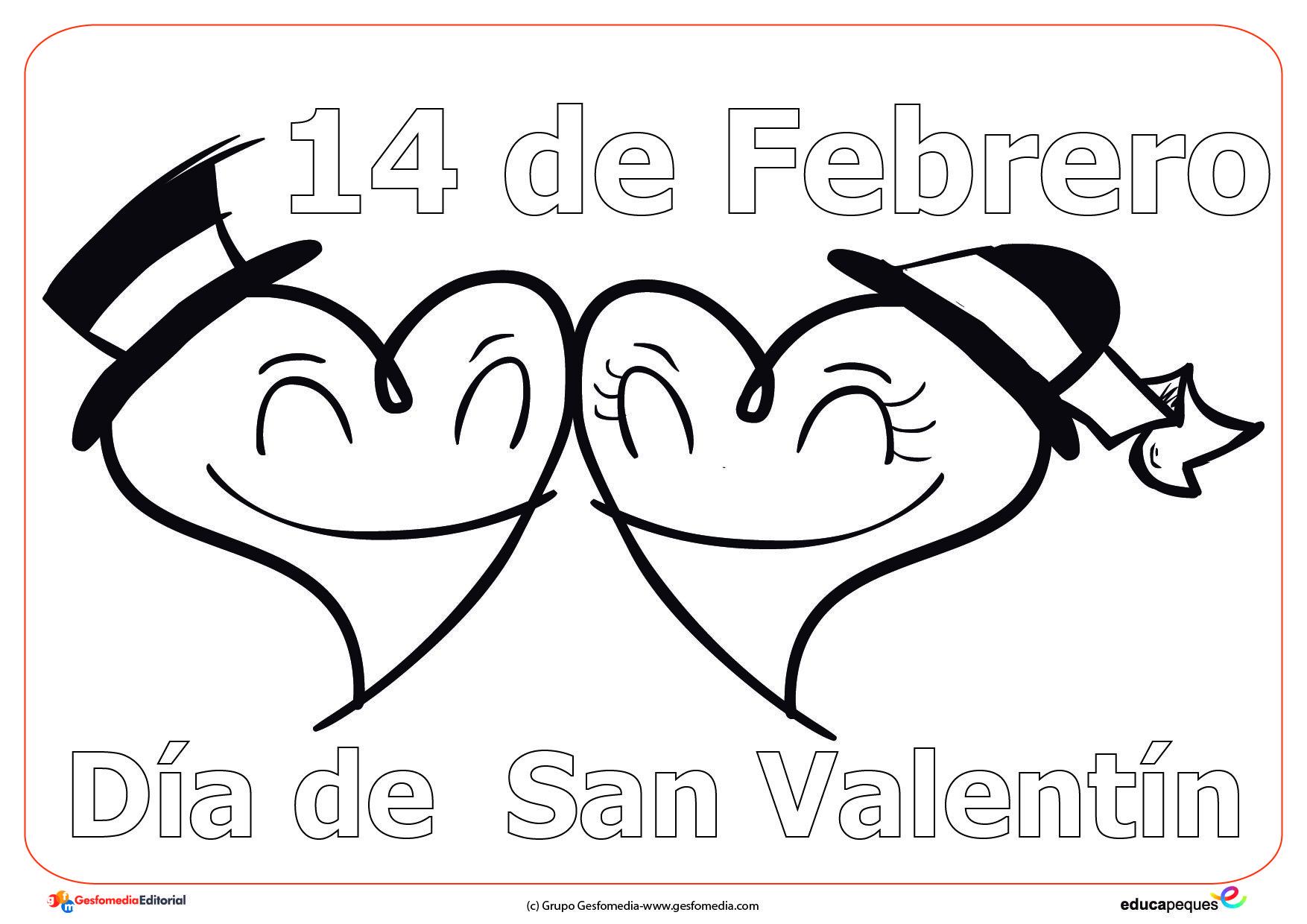 Dibujos Del 14 De Febrero Dia De San Valentin Para Pintar