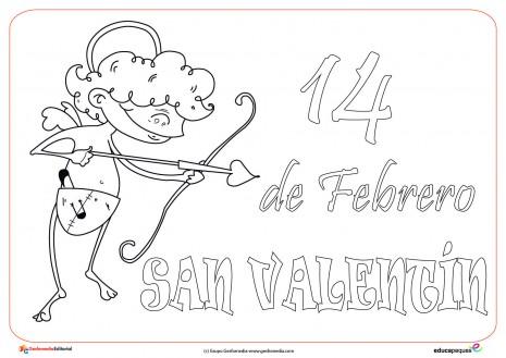Dibujos del 14 de febrero – Día de San Valentín para pintar ...