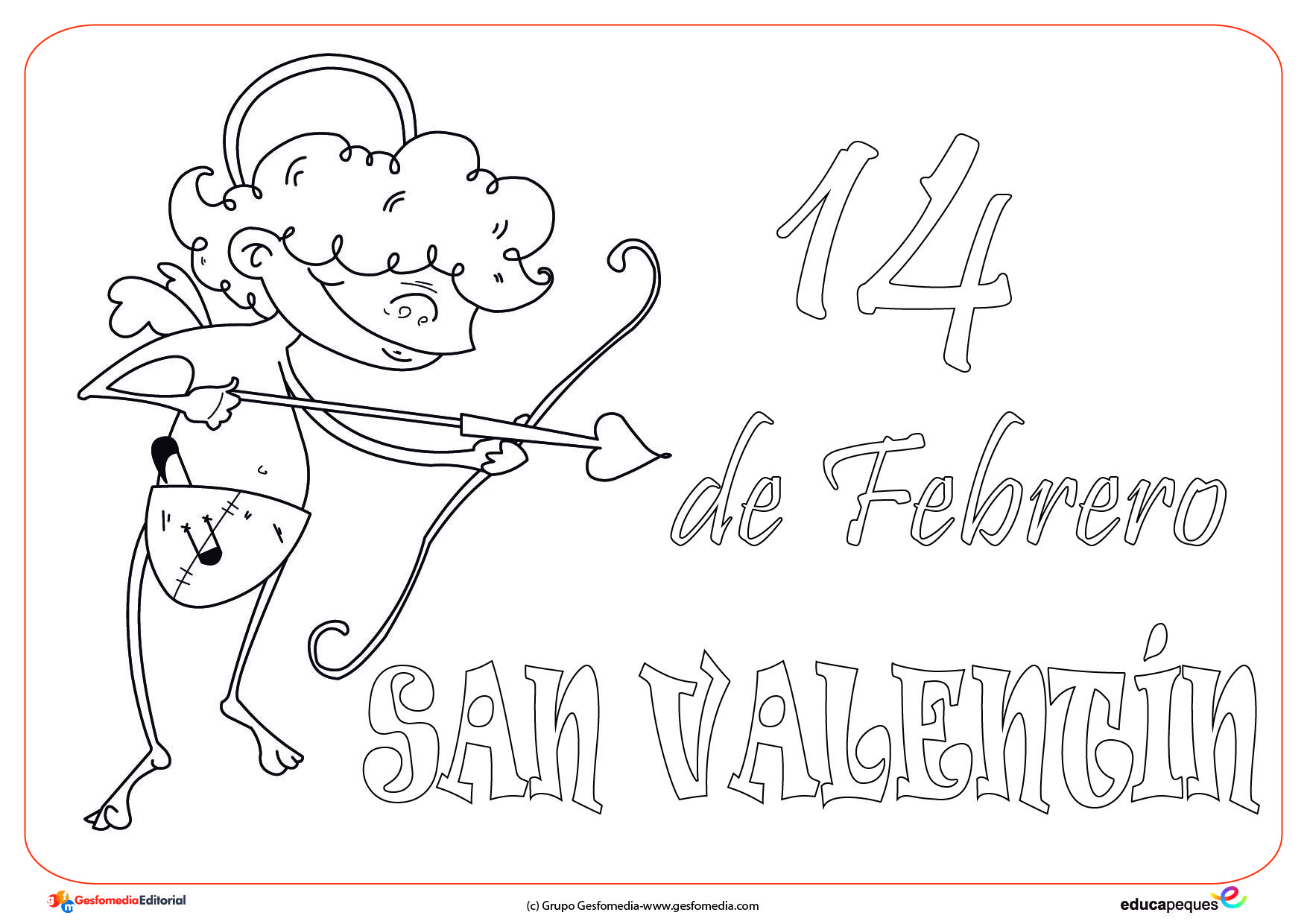 Dibujos Del 14 De Febrero Día De San Valentín Para Pintar
