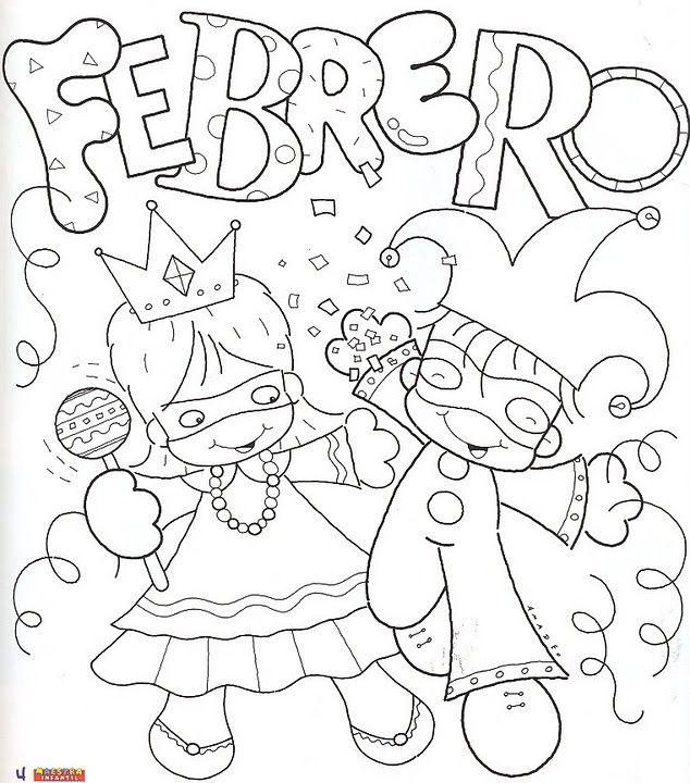 Dibujos Divertidos Del Mes De Febrero Para Colorear Colorear Imágenes