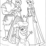 Dibujos de los personajes de Frozen para pintar