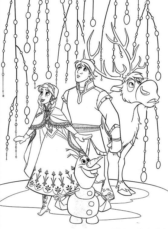 Dibujos De Los Personajes De Frozen Para Pintar Colorear Imagenes