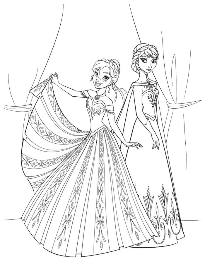 Dibujos de los personajes de Frozen para pintar | Colorear ...
