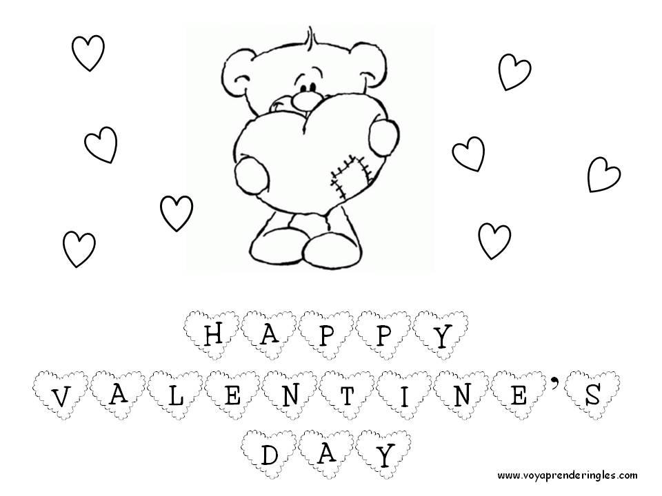 Encantador Hojas De Colorear Gratis Para El Día De San Valentín ...