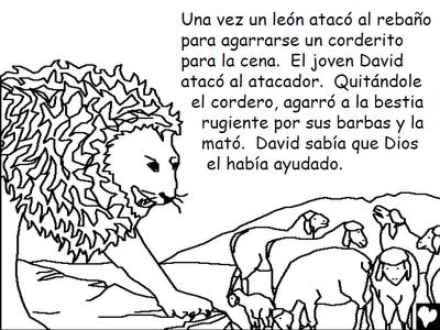 historias de la biblia para colorearDAVID EL BUEN PASTOR PARA COLOREAR2